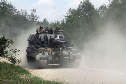 British Army artillery regiment conducts live-fire exercise at Gragenwoehr