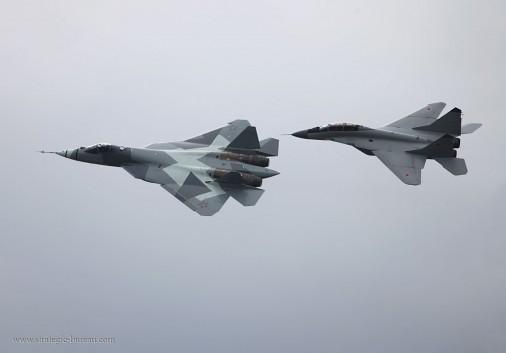 PAKFA T-50 and MiG-29 008