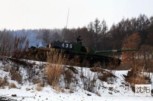 ZTZ-99 firing A203