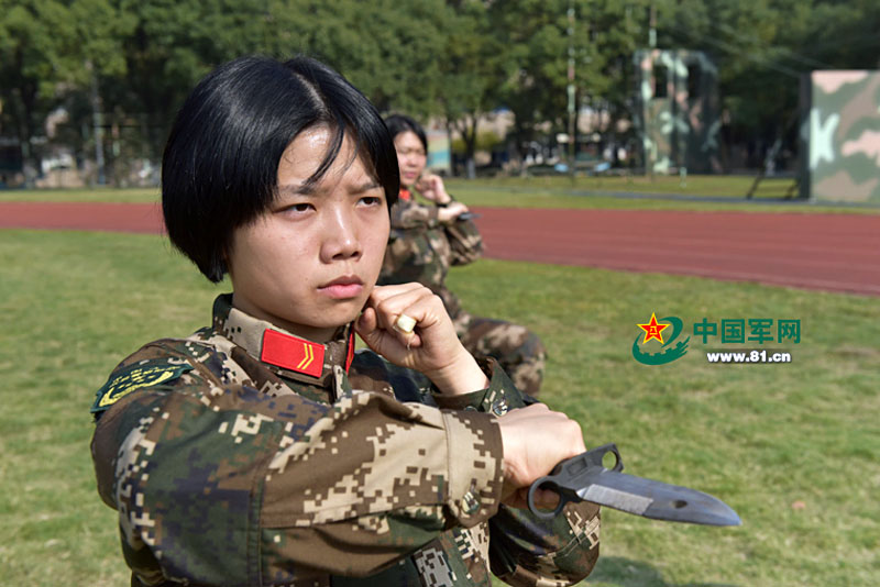 Close combat training of women in the Chinese Army